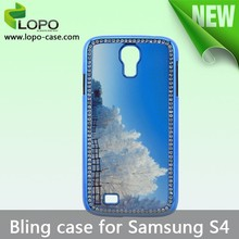 factory supply sublimaiton bling case for Samsung galaxy S4
