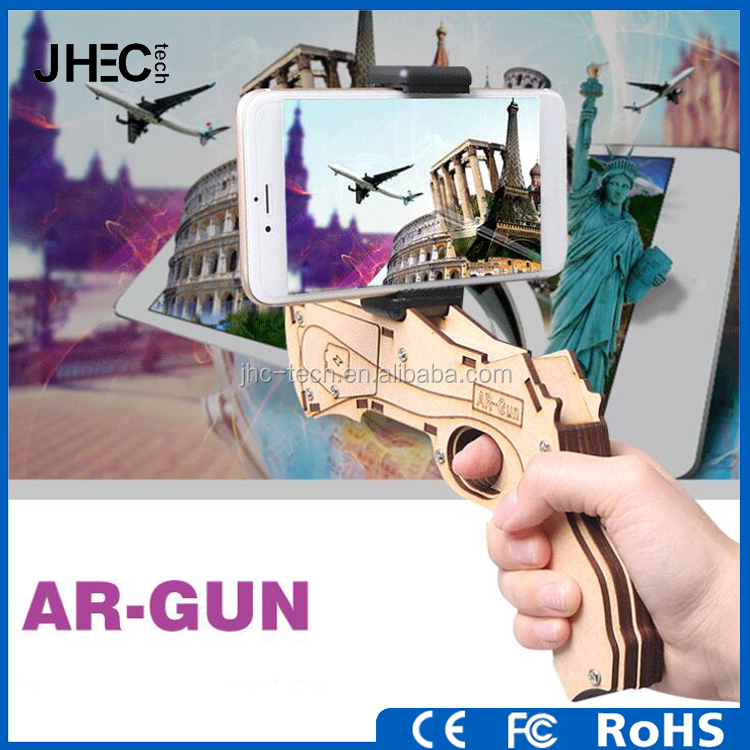 2017 newest joystick 3D AR shooting game toy smart bluetooth VR gun controller for smartphone