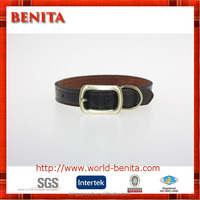 China highest quality eco-friendly leather puppy collars