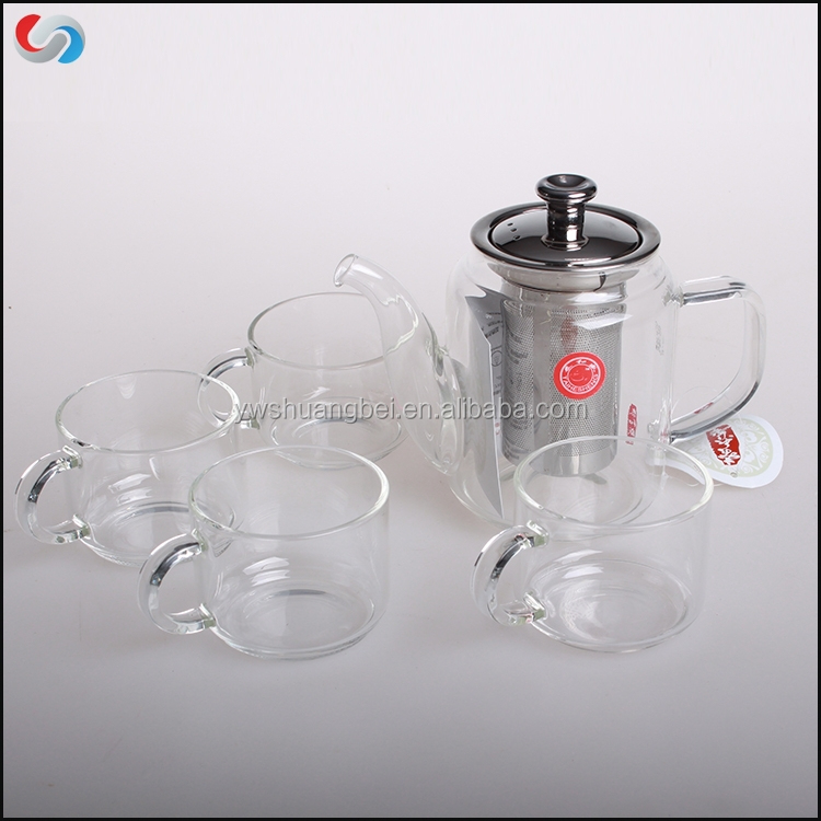 Handmade High Grade Borosilicate Glass Drinkware Coffee & Tea Pot Sets Water Kettle