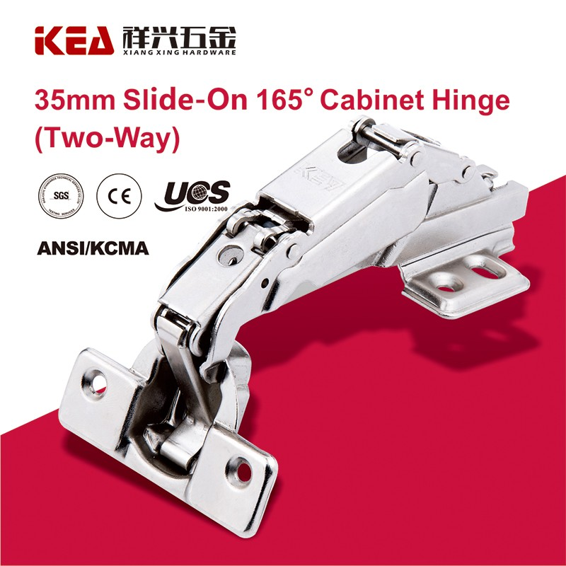 [B29] 165 Degree Self Closing Hinge Slide-on Cabinet Door Hinge