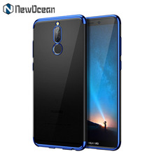 For Honor 9i clear soft silicone TPU Electroplated cell phone case for Huawei Nova 2i Maimang 6 Mate 10 lite transparent cover