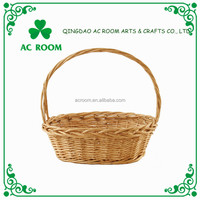 AC ROOM wicker storage basket gift/flower basket with handle