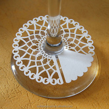laser cut decorative paper cutting wine claim table decoration for christmas ornaments