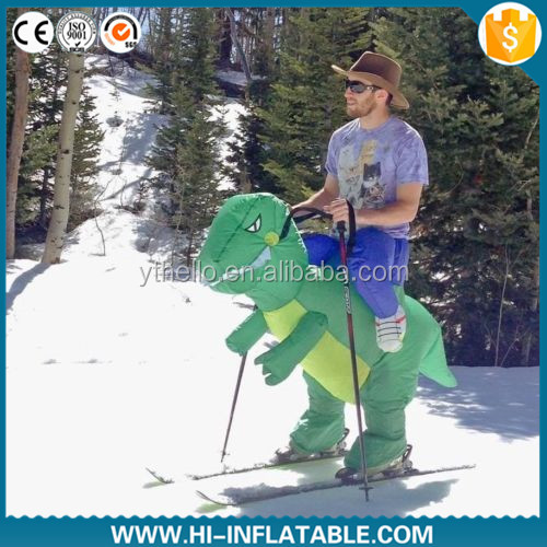 Funny inflatable dinosaur costumes dragon sea advertising