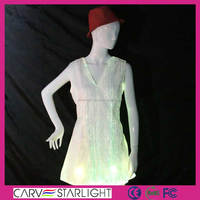 Hot sell luminous led lighing magic sleeveless party dresses