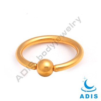 Cheap stainless steel nose piercing jewelry gold BCR wholesale
