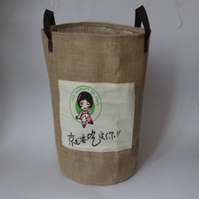 Christmas Food Grade Packaging Burlap Tote Bag Jute Shopping Bag Wholesale