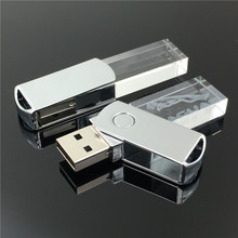 Custom logo promotional gift cheap bulk 16gb crystal usb flash drives