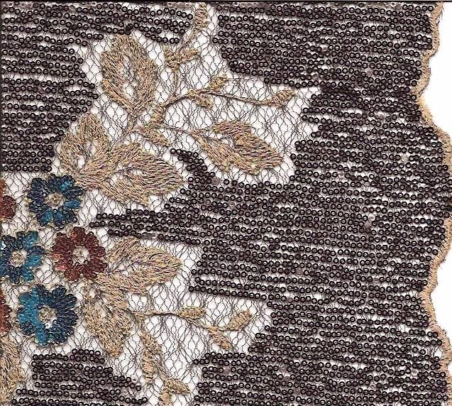 Embroidered Paillettes Lace Fabric