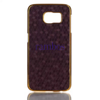 Luxury Design Chrome Gold Leather Hard Skin Case Back Cover for iPhone 5 6 6 Plus