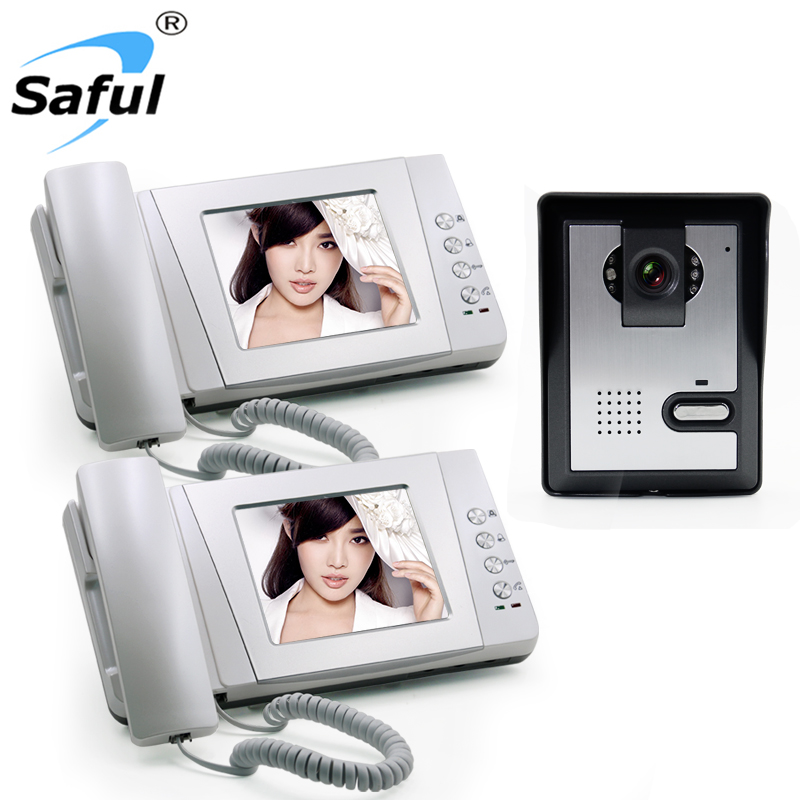 Saful hot selling 4inch night vision wired doorbell intercom, 2 way wire intercom system