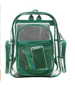Clear School Backpack with Color Trim, Transparent PVC Book Bag