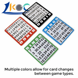 Bingo Paper Game Cards - 1 card - 5 sheets - 100 books - 4 Inch Square Size Disposable Cards