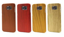 Luxury Ultra Thin Slim Wood Grain PC Case Cover For iPhone/Samsung , Wooden Cover Case For iPhone6 /Samsung Note 5