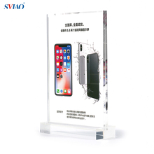 A4 Clear Acrylic Sign Holder No Magnet 100% Picture Photo Display Frame Ad Frame Tabletop Display Stand For Mobile Store Use