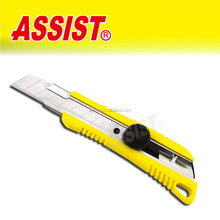 2014 assist popular new design fashion easy cut new industrial safety utility knife tool High Quality 18mm Utility Knife