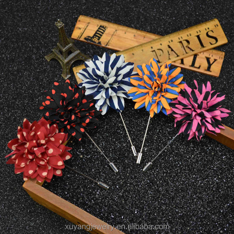 Fashion latest flower brooch pin design, lapel pins flower (HP-057)
