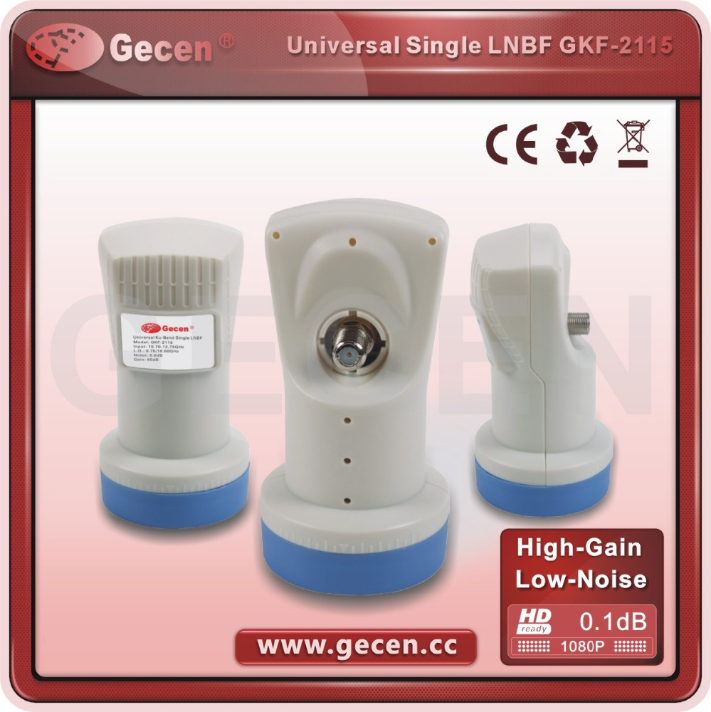 2017 GECEN hot-selling best quality universal LNB,low noise ku-band single LNBF