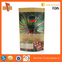 Good sealing kraft brown paper bag for powder Coconut package
