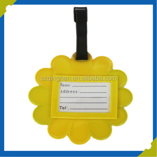 Make Your Own Luggage Tag Wholesale Clear Funny Rubber Luggage Tag Manufacturer