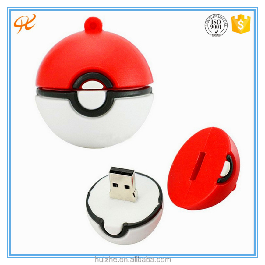 2016 Hot sale carton PVC custom usb stick cute Pokemon go usb flash drive