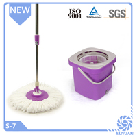 2015 new design hand press 360 spin mop and bucke