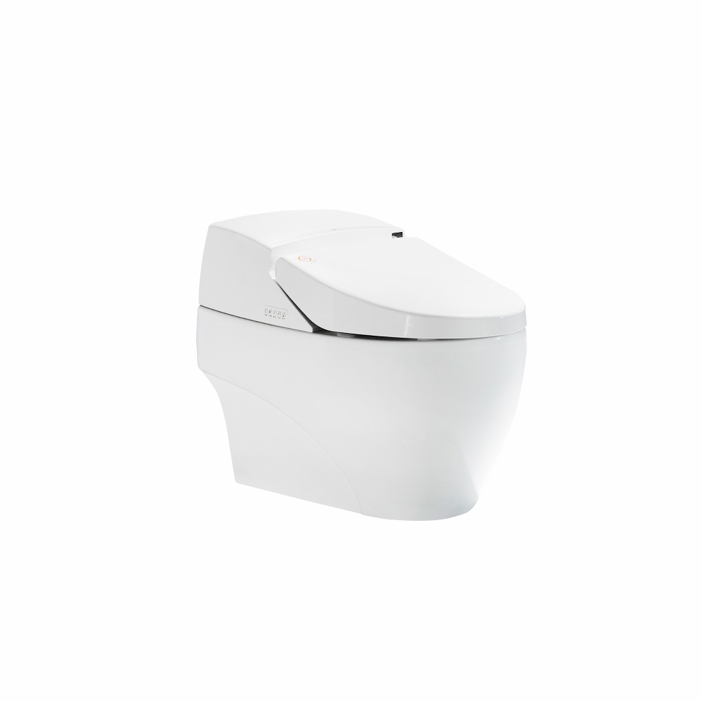 Temperature adjustable floor mounted smart toilet CE with night light toilet bowl