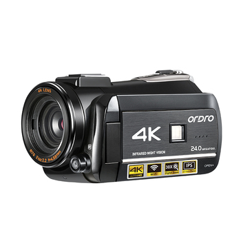 ORDRO New 4K digital video camera wifi video camera night vision Camcorder with hotshoe support microphone infrared camera
