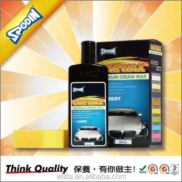 SPODIN Superior Quality Wax for Car Cover Sun Protect Products Cleaner (Light Color Cars)