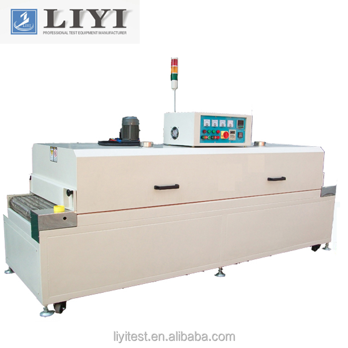 Small textile IR screen printing tunnel drying oven