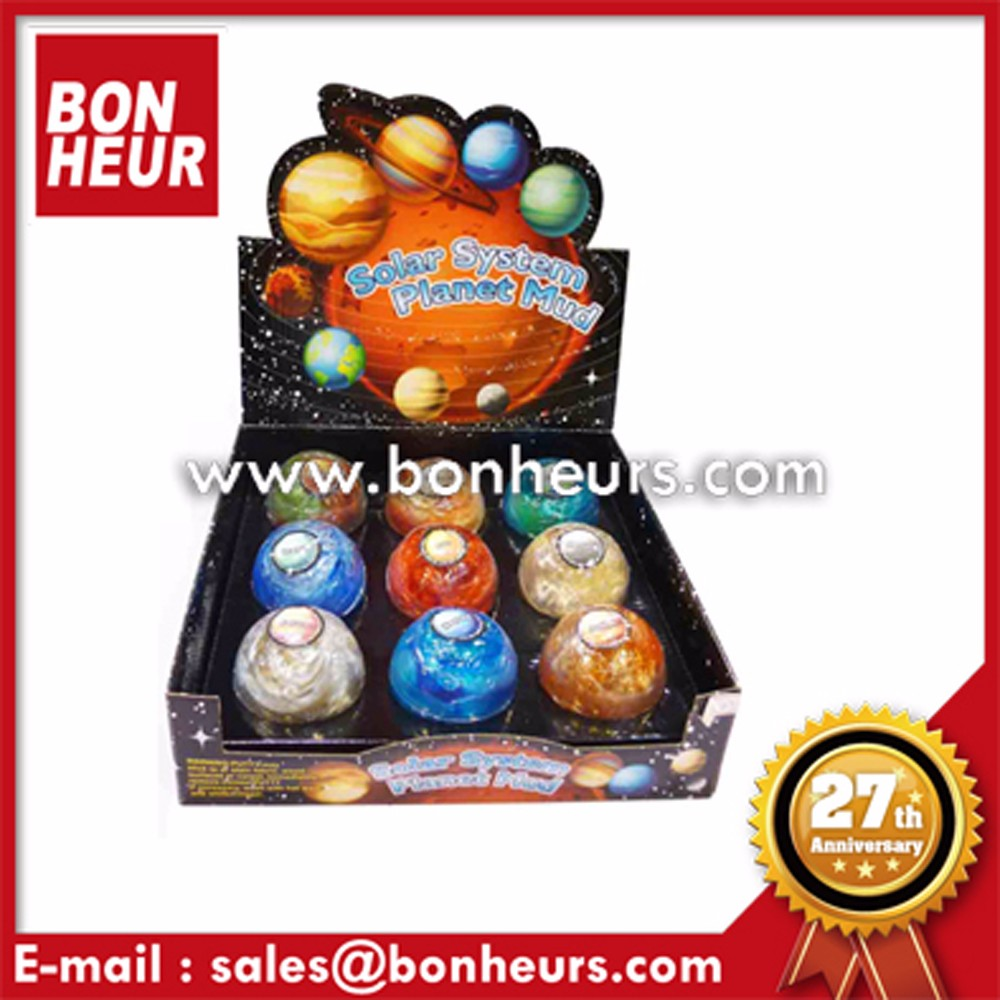 Space Art Ball Marbles Solar System Planet Mud