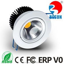 Besun factory price aluminum housing IP33 indoor lighting 6w led downlight