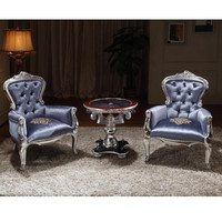 Nailed Bride and Groom Chairs of Hand-craft, Tufted French Baroque Furniture Foshan