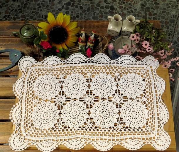 Nuevo chrismas flores tridimensionales hechas a mano mantel de ...