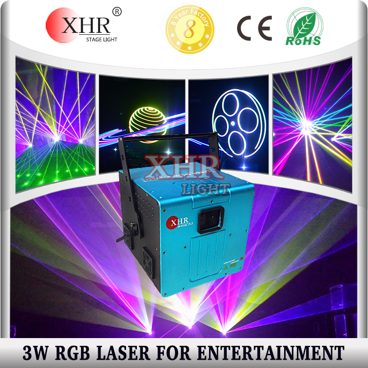 Multi Color 3W Laser Light DJ Club Party Equipment For Sale Stage Lighting