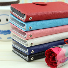 New 2014 PU leather wallet case flip cover for samsung galaxy win i8552