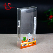 Custom folding PP transparent plastic pencil packaging box supplier