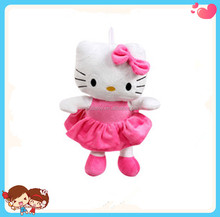 Wholesale Hot Good Quality Cute Pink Hello Kitty Stuffed Plush Toy Cartoon Cat Toys Keychain