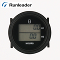 LCD double hour meter of runleader total hour resettable