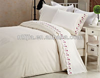 2014 new design 100% cotton embroidery handmade bed sheets design