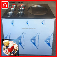 low energy consumption Frozen New Flat Pan Fried Ice Cream Roll Machine