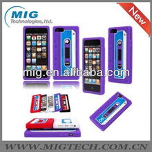 for iphone 5 case,tape cassette design case for iphone 5S