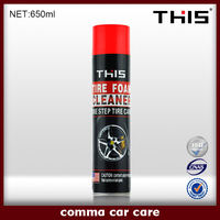 650ml Car Care Foaming Tire Cleaner Spray, Tire Polish
