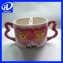 LO & VE Couple Mug Set Matching Ceramic Cups Cute Gift Idea for Couple