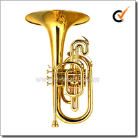 [WINZZ] Yellow Brass Leadpipe F key Marching Mellophone (MMF6200)