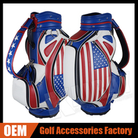 Cheap Leather Tour Staff Golf Bag Custom stand golf bag