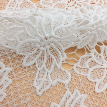 CRF2030 Charming leaves design weaving swiss lace fabric for garment