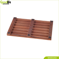Bathroom Teak wood design non slip mat for safety shower IWS53353
