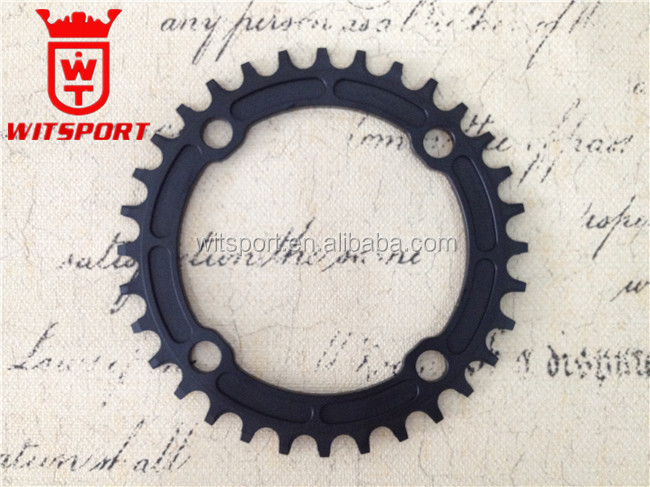BCD104mm MTB chainring 32T 34T36T38T crankset Mountain Bike anodized Black chainring